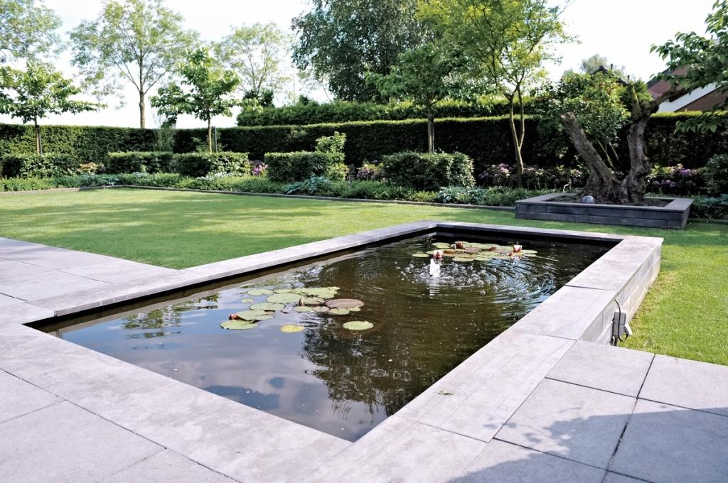 Stijlvolle tuin met vijver willemstad for Tuin en vijver
